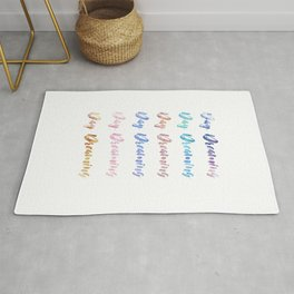 Day Dreaming Watercolour Typography Art Print Rug