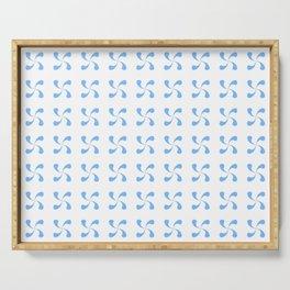 Symmetric patterns 184 blue Serving Tray