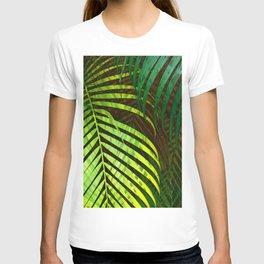 TROPICAL GREENERY LEAVES no8a T-shirt