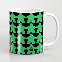 Green Meeples by Blackburn Ink Coffee Mug