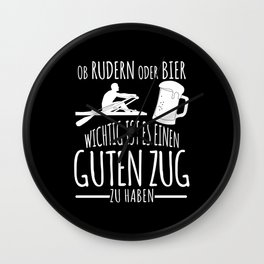 Rowing And Beer - Funny Saying Wall Clock