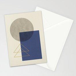 Geometric - Gray Blue Stationery Cards