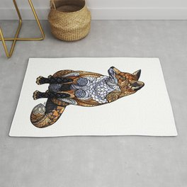 Stained Glass Fox Rug