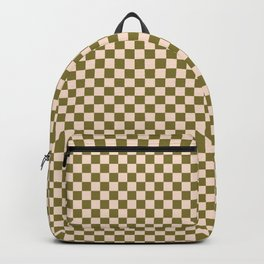 Check VI - Green — Checkerboard Print Backpack