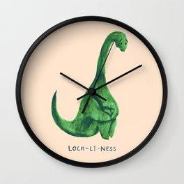 Lonely loch ness monster (loch-li-ness) Wall Clock