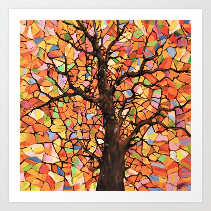 Stained Glass Tree 2 Art Print By Amy, Stained Glass Pictures