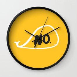 No Whale Wall Clock