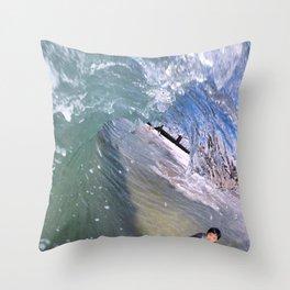 Clear Curl Throw Pillow