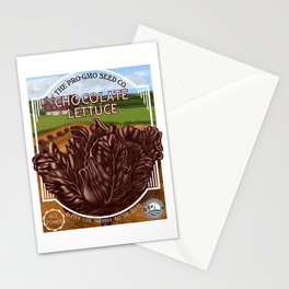 Chocolate Lettuce Stationery Cards