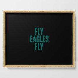 Fly Eagles Fly Philadelphia Football Serving Tray
