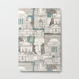 Washington DC toile juniper Metal Print
