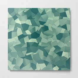Geometric Shapes Fragments Pattern gr Metal Print