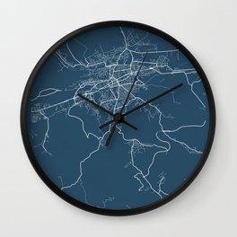 Cluj - Napoca Blueprint Street Map, Cluj - Napoca Colour Map Prints Wall Clock