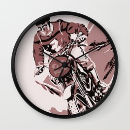 Motocross, the crosser Wall Clock