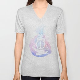 Hallows watercolors Unisex V-Neck