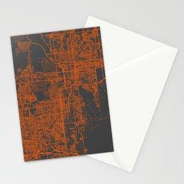Phoenix map orange Stationery Cards