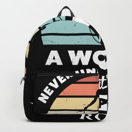 Woman with a Skipping Rope Gift Wife Backpack