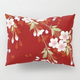 Japanese Sumi Cherry Blossom Print Pillow Sham