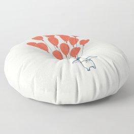 Penguin Balloons Floor Pillow