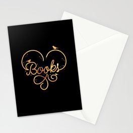 Heart Books Stationery Cards