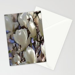 Magnolia in blossom Stationery Cards