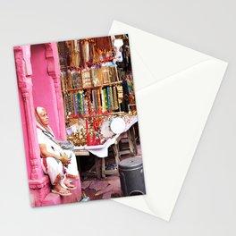 397. Old Lady, Pushkar, India Stationery Cards