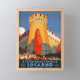 Advertisement locarno x festa delle camelie Framed Mini Art Print