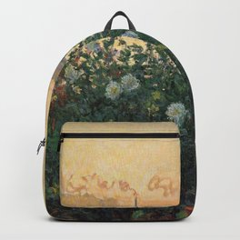 Claude Monet Neck Gaiter FLowers on the Riverbank at Argenteuil Monet Neck Gator Backpack