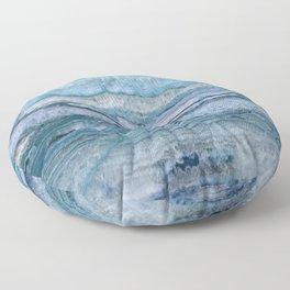 Mystic Stone Aqua Blue Floor Pillow