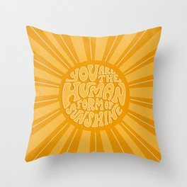 Human Form of Sunshine Throw Pillow