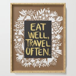 Eat Well, Travel Often (on Kraft) Serving Tray