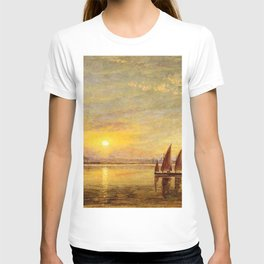 On the James River, Virginia by Edward Lamson Henry T-shirt
