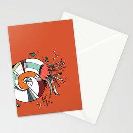 Nautilus Orange Stationery Cards