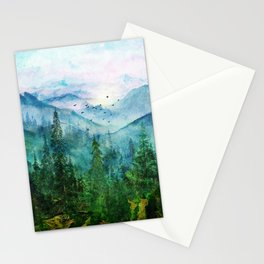 Spring Mountainscape Stationery Cards