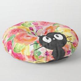 Jiji in Bloom Floor Pillow