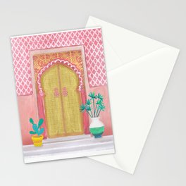 Moroccan doors Stationery Cards