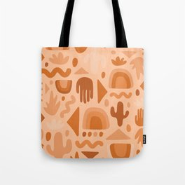 Orange Cutout Print Tote Bag