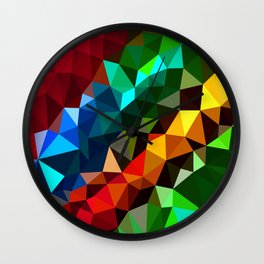 Geometric elements Wall Clock