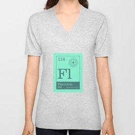 Periodic Elements - 114 Flerovium (Fl) Unisex V-Neck