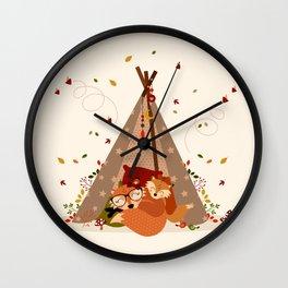 Sieste automnale Wall Clock