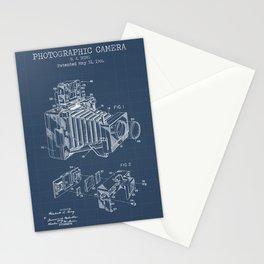 Photographic Camera blueprints Stationery Cards