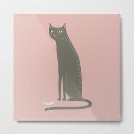 The black cat of Salem Metal Print