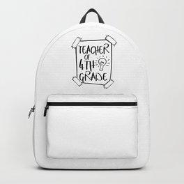 Teacher of Forth Grade Student Teaching School Gift Backpack