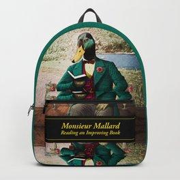 Monsieur Mallard Reading an Improving Book Backpack