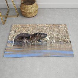 Watercolor Otter 15, Janes Island, Maryland Rug