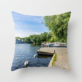 The River Bure, Wroxham, Norfolk Throw Pillow
