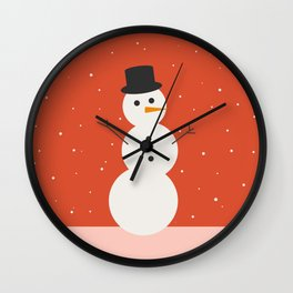 Christmas Snowman Wall Clock