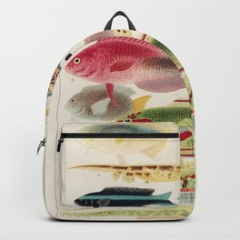 Vintage Fish of the Great Barrier Reef Backpack