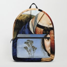 Raphael - Portrait of Maddalena Doni Backpack