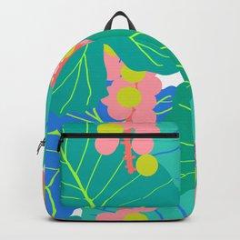 Elephant Ear Leaves + Sea Grapes Backpack